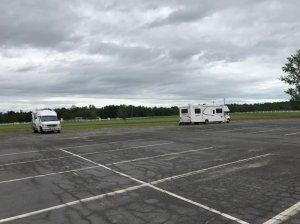 View of RV parking facing away from casino