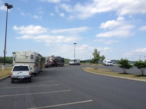 RV parking as of June 2014; new, separate lot is under construction.